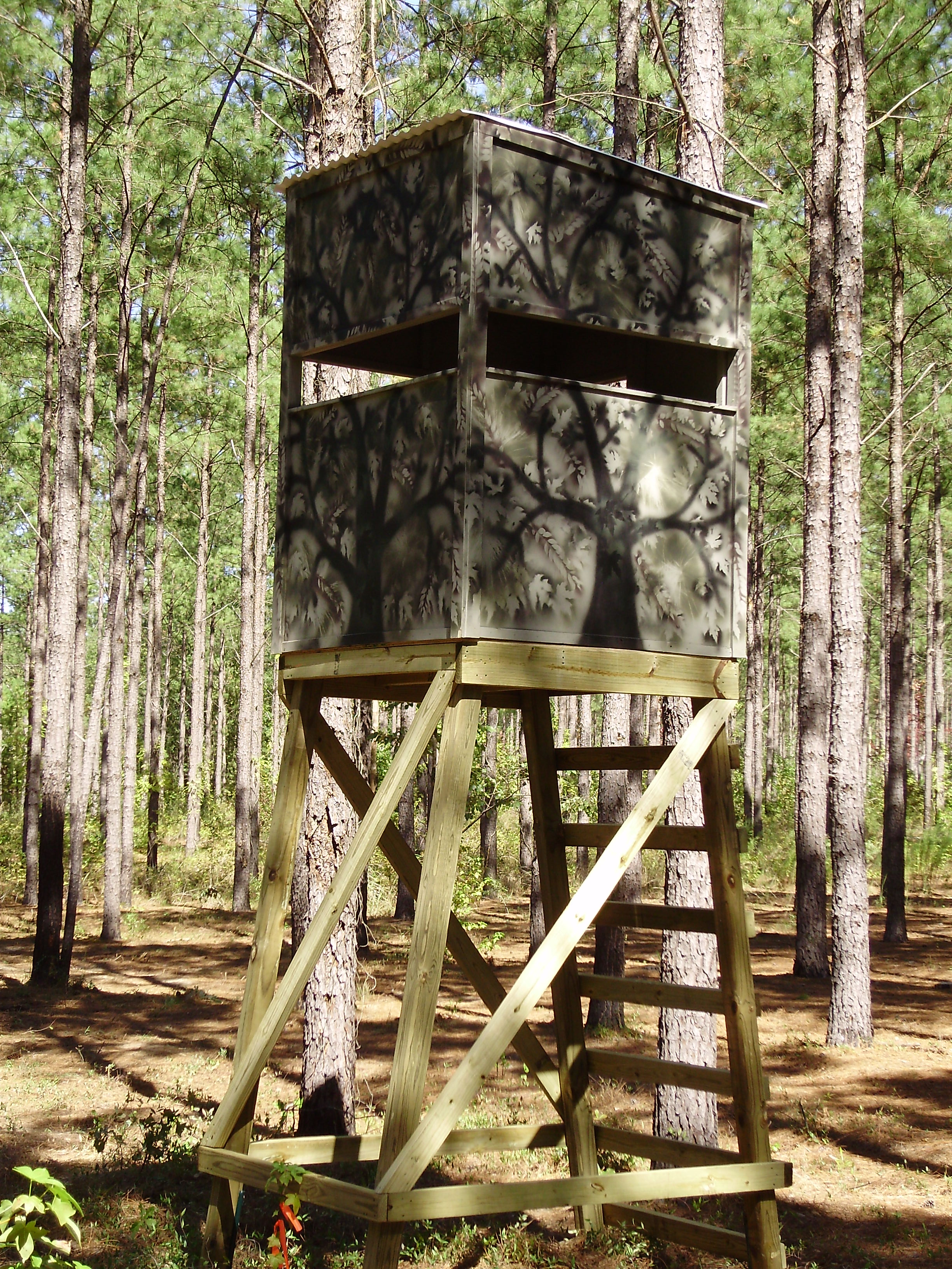 how to build a tripod deer stand out of wood 1